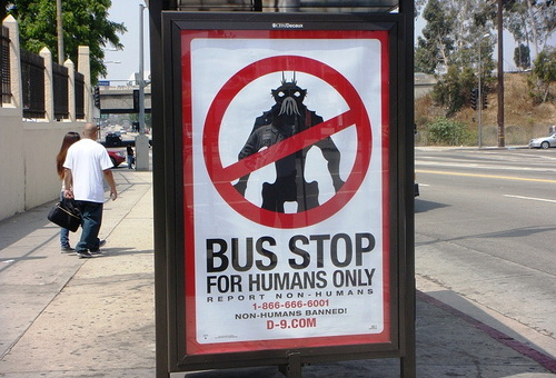 d9busstop - District 9 Advertising Campaign Makes Me Feel Like A Jerk