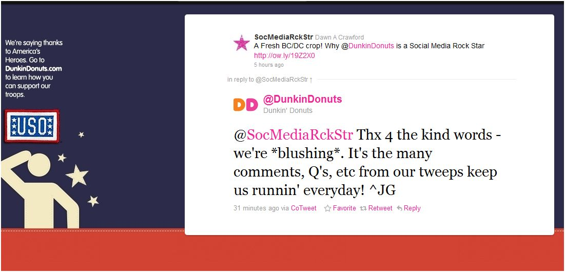 dd response2 - Why @DunkinDonuts is a Social Media Rock Star