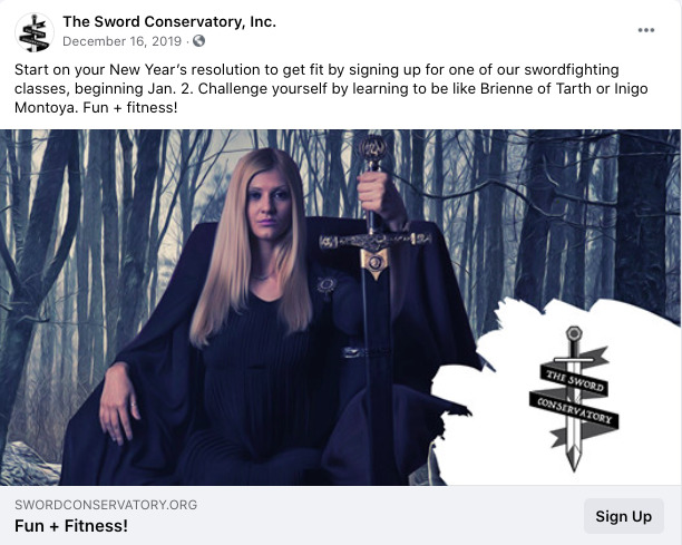 Sword Conservatory Ad - January 2020