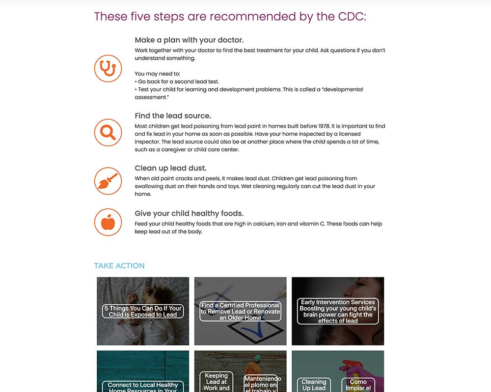 Lead Free NC Lead Risk page - Lead Free NC Website